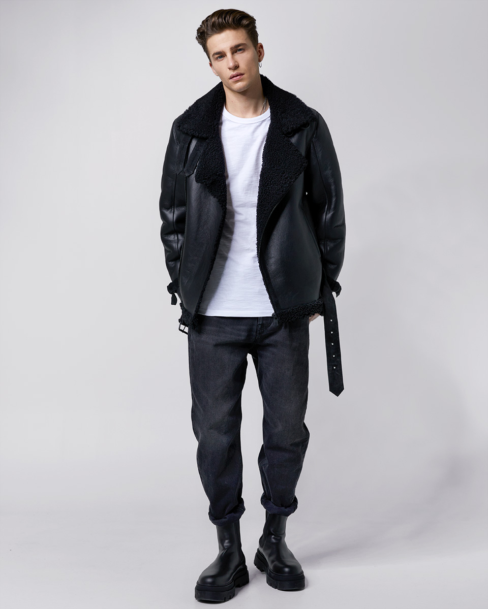 Lennox shearling pull up 214