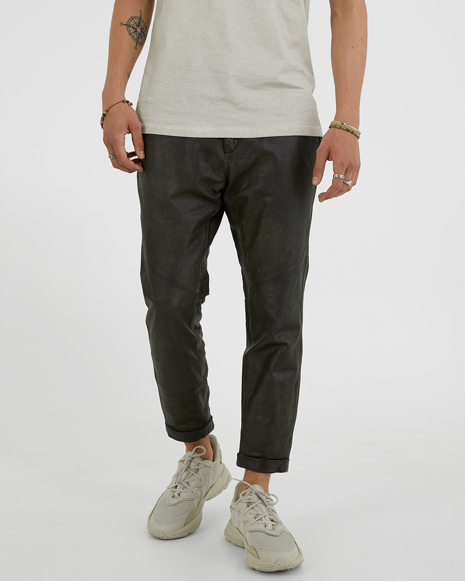 Aleko cropped cow leather