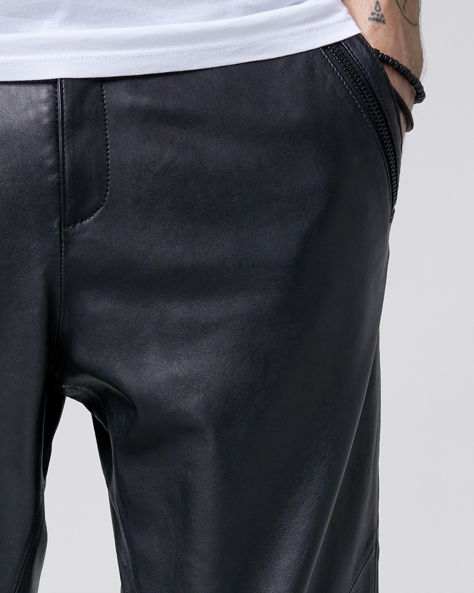 Aleko cropped leather
